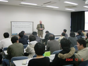 Lee lecturing at Yamaguchi University, Japan 2004